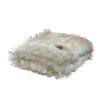 Gifts For Her - 491-389 Nicole Miller 60 x 50 Kahula Faux Wolf Fur Throw - 491-389