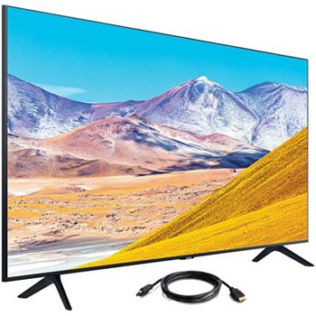 Huge Deals On Huge TVs Start Your Exciting Viewing Adventure - 491-494 Samsung TU8000 Class 50 Crystal 4K UHD Smart TV w HDMI Cable - 491-494