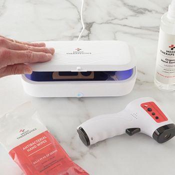 UV Sterilizing Kills 99.9% of Germs - 491-529 Medic Therapeutics Portable UVC Sterilization Box wWireless Charger - 491-529