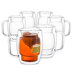 "JoyJolt ""Cadus"" Set of 6 (10 oz) Double-Wall Insulated Glasses"