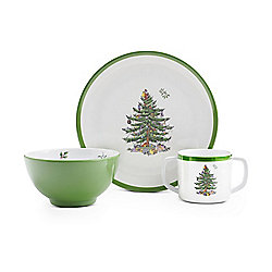 "Spode 3-Piece Children's Melamine Set - 8"" Plate, 5"" Bowl & 10 oz Cup"