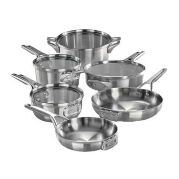 Free Shipping On Kitchen & Food - 493-363 Calphalon 10-Piece Premier Space Saving Stainless Steel Cookware Set - 493-363