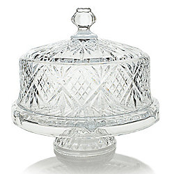"At Home w/ Jorge 12"" Crystal 4-in-1 Cake Plate"
