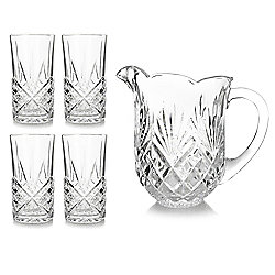 Jeffrey Banks 5-Piece Pitcher and Highball Glasses Beverage Set
