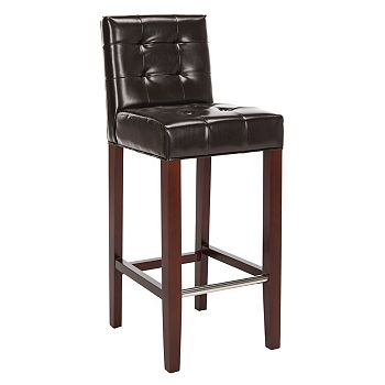 494-384 Safavieh Thompson 40.5 Brown Bicast Leather Bar Stool - 494-384