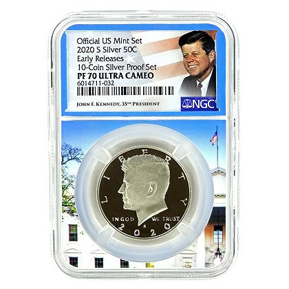 494-535 2020 NGC PF70 Ultra Cameo Early Releases Silver Kennedy New Core