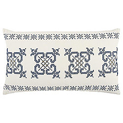Rizzy Home 14x26 Geometric Blue Polyester Filled Pillow