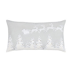 Rizzy Home 14x26 Flight Of Santa Gray Polyester Filled Pillow