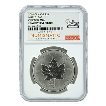 Discover The Coin Shoppe Featuring ShopHQ Exclusives - 495-628 2014 Canadian Maple Leaf NGC Gem Reverse Proof in ANA Holder - 495-628