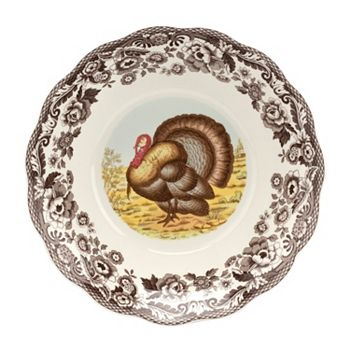 Beautiful Tablescapes The Settings You've Dreamed Of - 497-012 Spode 250th Anniversary 10 Woodland Turkey Daisy Bowl - 497-012