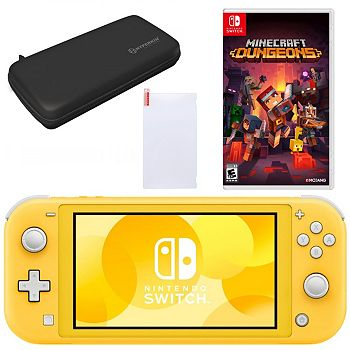 Nintendo Switch Freshly Discounted 497-177 Nintendo Switch Lite with Minecraft Dungeons and Accesories - 497-177
