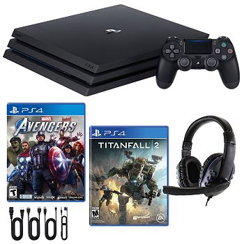 Gaming Bundles Save Big & Get More 497-180 PlayStation 4 Pro 1TB Console with Titanfall 2, Avengers and Headset - 497-180