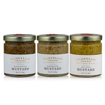 Gourmet Food Taste Delicious New Items - 497-206 Oakville Grocery Set of 3 (7oz) The Mustard Tasting Bundle - 497-206