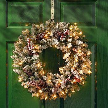 Holiday Decor Sale Christmas Season Has Begun 497-834 National Tree Company 30 Dunhill Fir Wreath with Clear Lights - 497-834