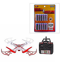 World Tech Toys Striker-X 720p HD Quadcopter Drone w/ Remote, AA Batteries & SD Card