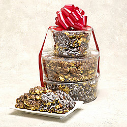 Penn Street Bakery Set of 3 Deluxe Caramel Delight Popcorn Tower
