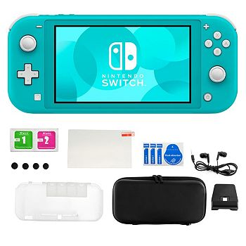 Electronics Doorbusters New Offers Added Every Day - 498-966 Nintendo Switch Lite in Turquoise w Accessory Kit - 498-966
