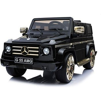 High Tech Holiday Hot Offers At Special Prices 499-146 Kool Karz Black Mercedes Benz G55 AMG Electric Ride On Toy Car - 499-146