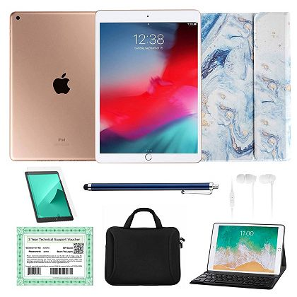 Today's Special Deals New Finds & New Low Price - 499-446 Apple® iPad 10.2 8th Gen 32GB or 128GB Wi-Fi Tablet w Accessories & 3-Year Tech Voucher