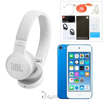 Portable Audio ft. New Bundles You Can Only Find It Here - 499-687 JBL Live 400 Bluetooth On-Ear Headphones & Apple® 32GB iPod Touch Bundle - 499-687