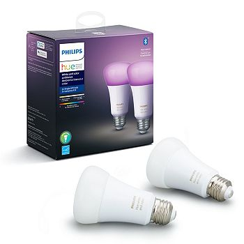 Smart Home & Security Tons Of Smart Lighting Options 499-809 Philips Hue 2-Pack White & Color Ambiance A19 Bluetooth Smart LED Lightbulb - 499-809