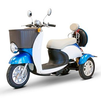 EWheels Scooters For Fun & Mobility 500-243 EWheels 4-Wheel Electric Mobility Scooter w Basket & Headlight - 500-504