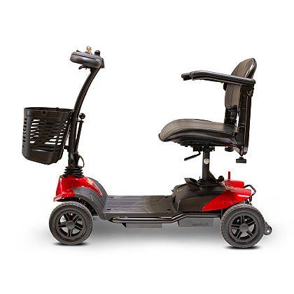 EWheels For Fun & Mobility Tune In At Noon ET 501-012 EWheels 4-Wheel Ultra-Light Portable Scooter w Storage Basket & Extended Warranty