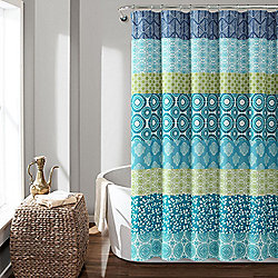 "Lush Decor 72"" Bohemian Stripe Shower Curtain"
