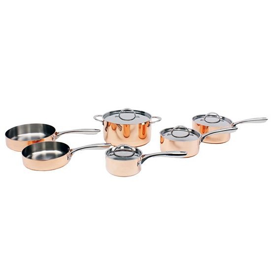Daily Digital Deals Shop Hundreds Of Web Exclusives -  501-724 BergHOFF Vintage Collection 10-Piece Polished Copper Cookware Set