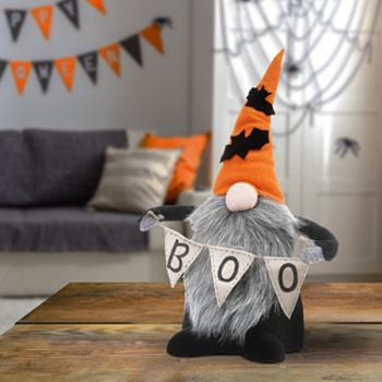 508-821 15 Halloween Gnome with Boo Banner in Choice of Color - 508-821