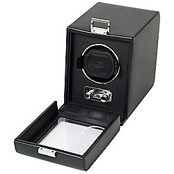 Heritage by WOLF Single Watch Winder w/ Cover