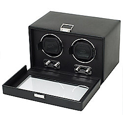 Heritage by WOLF Double Watch Winder w/ Cover