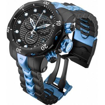 Web Exclusives 632-072 Invicta Reserve 52mm Venom Swiss Quartz Chronograph Stainless Steel Bracelet Watch - 632-072