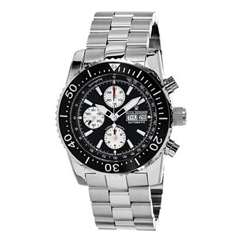 Watches - 637-257 Revue Thommen 45mm Air Speed Swiss Made Valjoux 7750 Automatic Stainless Steel Bracelet Watch - 637-257