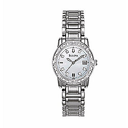 Bulova Women's Quartz Diamond Accented Stainless Steel Bracelet Watch