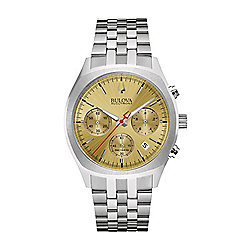 Bulova 41mm Accutron II Quartz Chronograph Date Stainless Steel Bracelet Watch
