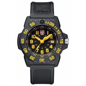 651-307 Luminox Men's 45mm Navy SEAL 3500 Swiss Made Quartz Date Rubber Strap Watch - 651-307