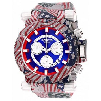 Invicta Big Dial Designs Ft. Tactical Collection - 655-249 Invicta Men's 52mm Coalition Forces USA Hydroplated Quartz Stainless Steel Bracelet Watch - 655-249