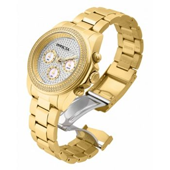 659-631 Invicta 40mm Speedway Quartz Chronograph 1.76ctw Diamond Stainless Steel Bracelet Watch - 659-631