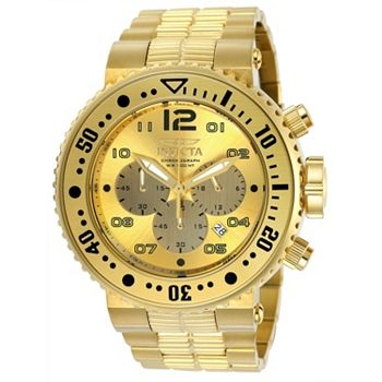 663-070 Invicta Men's Tonneau Specialty Quartz Chronograph Date Leather Watch w 3-Piece Leather Strap Set - 668-064
