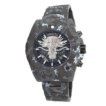 Lowest Prices Ever New Items Added Daily 668-442 Invicta Men's 52mm Pro Diver Dragon Edition Quartz Chronograph Hydroplated Bracelet Watch