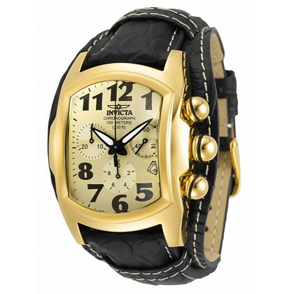 Lowest Prices Ever New Items Added Daily - 669-280 Invicta 40mm Tonneau Lupah Dragon Lagarto Quartz Chronograph Leather Strap Watch
