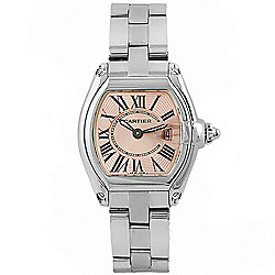 Cartier Women's Roadster Tonneau Swiss Made Quartz Stainless Steel Bracelet Watch