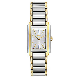 Rado Women's Rectangular Integral Swiss Made Quartz Two-tone Stainless Steel Bracelet Watch