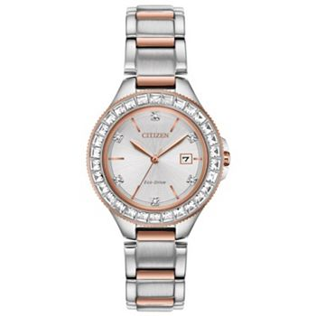 674-180 Citizen Women's Silhouette Eco-Drive Date Crystal Accented Bracelet Watch - 674-180