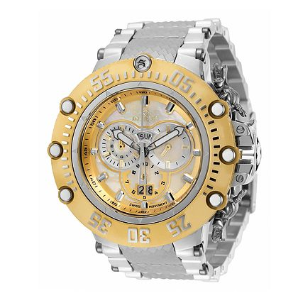Lowest Prices Ever - 675-780 Invicta Men's 52mm Subaqua Noma VII Swiss Quartz Chronograph Mother-of-Pearl Dial Bracelet Watch