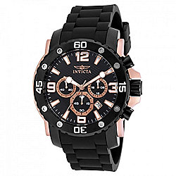 Invicta Men's 47mm Pro Diver Quartz Chronograph Polyurethane Strap Watch
