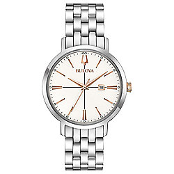 Bulova Women's Quartz Date Stainless Steel Bracelet Watch
