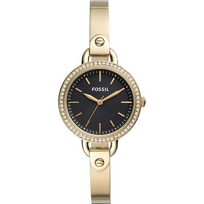 Web Exclusive Finds - 679-089 Fossil Women's Classic Minute Quartz Crystal Accented Stainless Steel Bangle Bracelet Watch