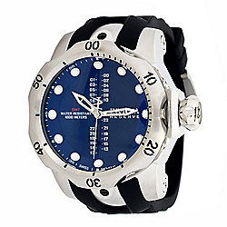 Invicta Reserve Men's 52mm Venom Swiss Quartz GMT Silicone Strap Watch